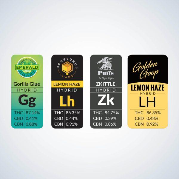 Custom Cannabis Stickers